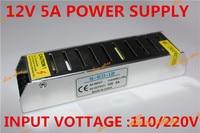 L 60 واط dc led امدادات الطاقة شاحن محول محول 12 فولت 5a 110 فولت 220 فولت إلى 12 فولت ل rgb بقيادة قطاع 5050 3528