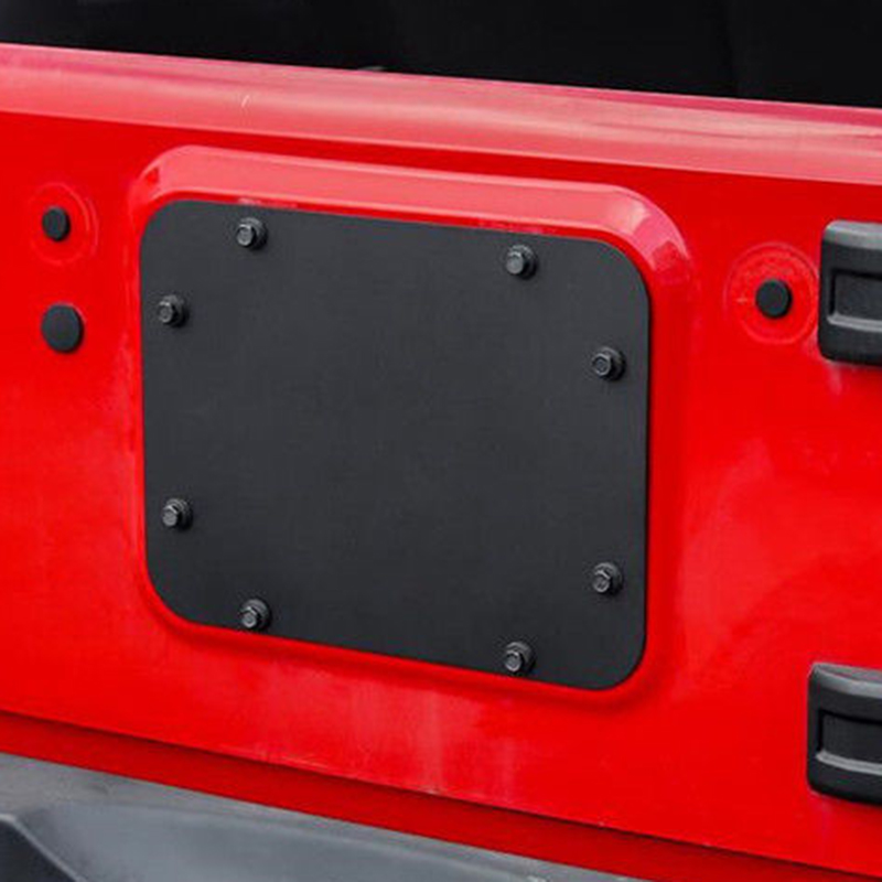1X Tailgate Spare Tire Delete Filler Plate Blank Plat For Jeep Wrangler JK JKU