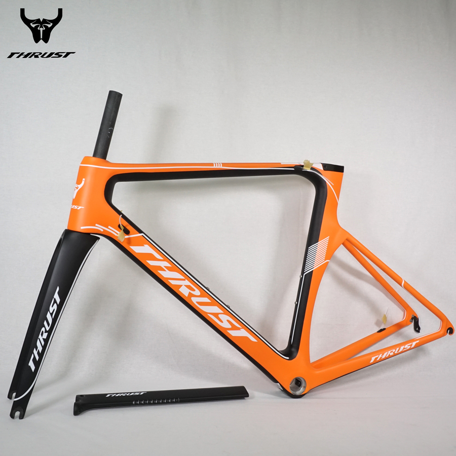 Trident Thrust Full carbon road bike frame road carbon frameset Carbon Frame hot selling with free shipping wholesale 2017 newest thrust carbon road frame carbon road bike frame