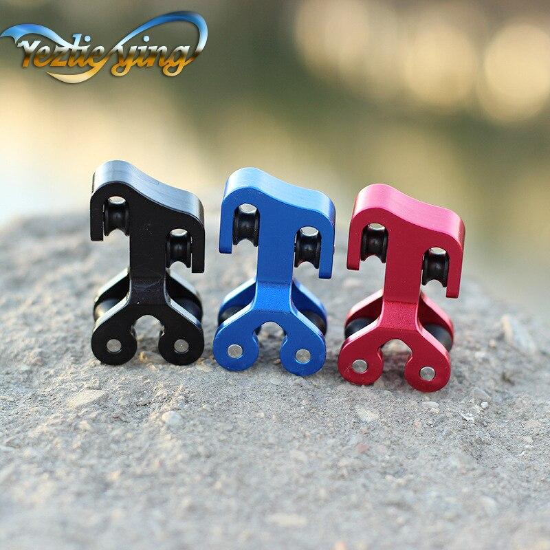 Composto arco cabo slide corda divisor 3/8 polegada de alumínio polia cabo slide string splitter arco composto bowstring protetor Arco e flecha     - title=