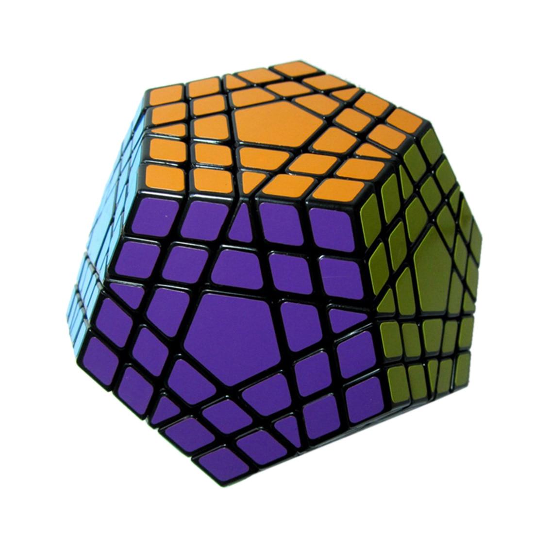 Высокое качество Dodecahedron 12 односторонняя скорость магический куб 5 слоев головоломка 5x5 Головоломка Развивающие игрушки для детей