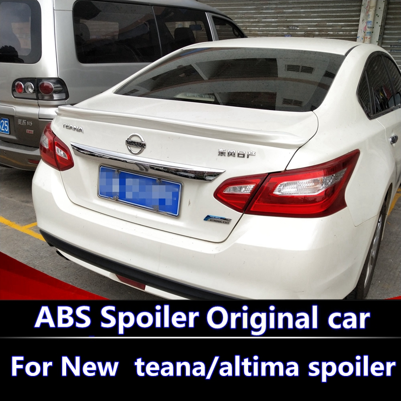 For New nissan teana/altima spoiler 2016 2017 2018 car decoration unpainted rear spoiler high quality ABS material spoiler