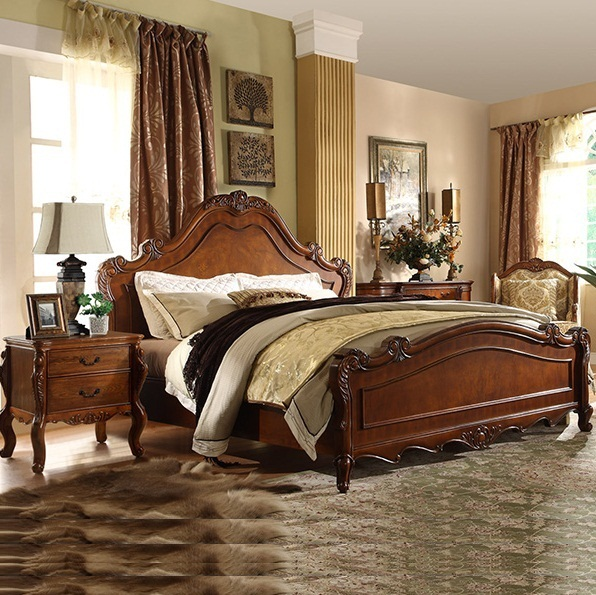 American Country Style Home Furniture Bedroom Queen King