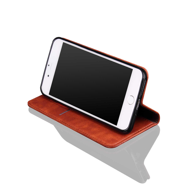 6S cep telefonu kılıfları Apple iPhone 6S için PU deri kapak Retro çılgın at kapak kılıfı kart sahipleri cep telefonu çantası iPhone 6