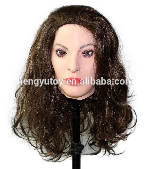 Festliche & Party Supplies SchöN Roanyer Ria Transgender Silikon Shemale Realistische Gesicht Maske Cosplay Frauen Crossdresser Latex Kleid Für Männlichen Sexy Party Liefert