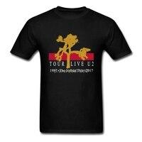 U2 Джошуа Tour футболка из хлопка с круглым вырезом короткий рукав Для мужчин футболки 2019 Горячая Винтаж плюс Размеры футболки