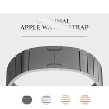 все цены на Stainless Steel Original Buckle Metal Strap For Apple Watch Band 38mm/42mm adjustable Metal Link Strap For iWatch Series 1 2 3 4 онлайн