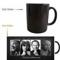 Martin Luther King kupalar kahve kupa isı değiştirme renk Isı duyarlı ortaya seyahat sihirli dönüşümü bira seyahat