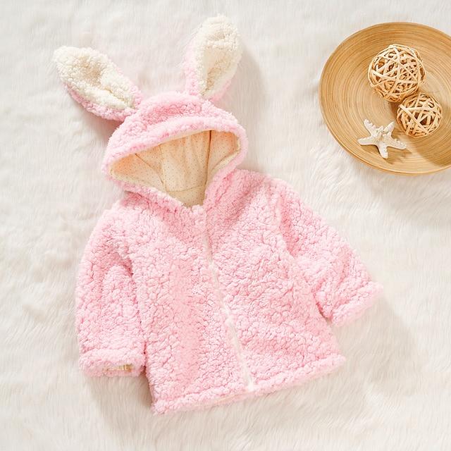 Baby Coat Wearing Poncho Sweater With Ears Chaquetas Bebes Recien Nacido Children Jacket Baby Zip Cardigan Autumn 50D021