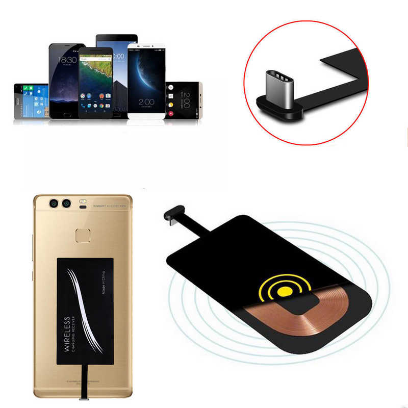 Type C USB 3.1 Qi Wireless Charger Power Charging Receiver For Cell Phone DIY Universal Receiver Micro USB Typc C Adapter