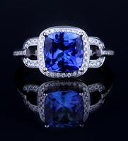 18K White Gold Ring Preferably Victoria Wieck Princess Cut 3ct Sapphire Simulated Diamond Women Engagement Wedding