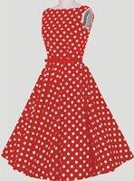 2016 lato casual dress krótki red white polka dots vintage style party dress kobiet sukienka szybka dostawa drop shipping w zdjęcie