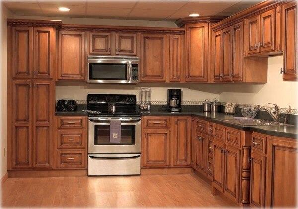 Fashion Vintage Cabinet Solid Wood Kitchen Door Modular Customize
