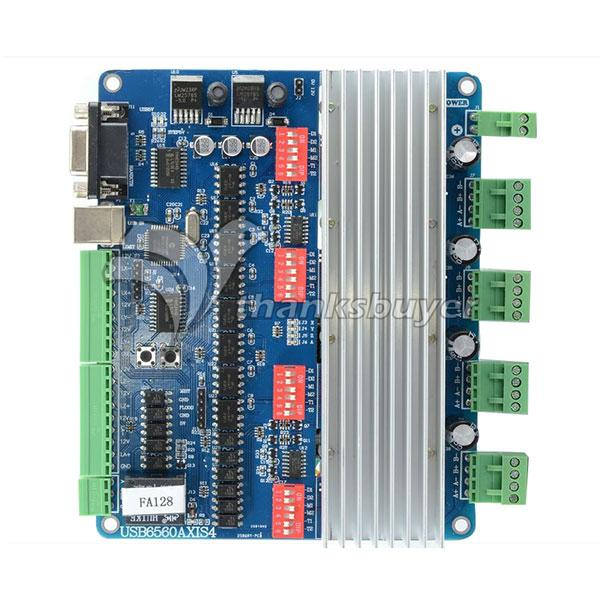 USBCNC 30K 4 Axis Stepper Motor Driver Board USB 4CH 2 Phase 3A USB6560T4V3 lson 5v 4 phase stepper motor learning package w driver board multicolored