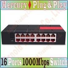 SG116M Replace Tenda TEG1016D, 16 Ports 1000Mbps Gigbit Ethnet Network Switch Desktop Design MDI/MDIX 6KV LightningProtect Prom