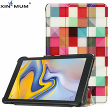 XIN-MUM Painting Case For Samsung Galaxy Tab A 8.0 2018 T387 SM-T387 Tablet 8 inch funda stand case for Galaxy Tab A 8.0 + Pen tablet funda capa for samsung galaxy tab a 8 0 sm t387 t387 2018 luxury lady leather wallet flip case cover coque shell stand