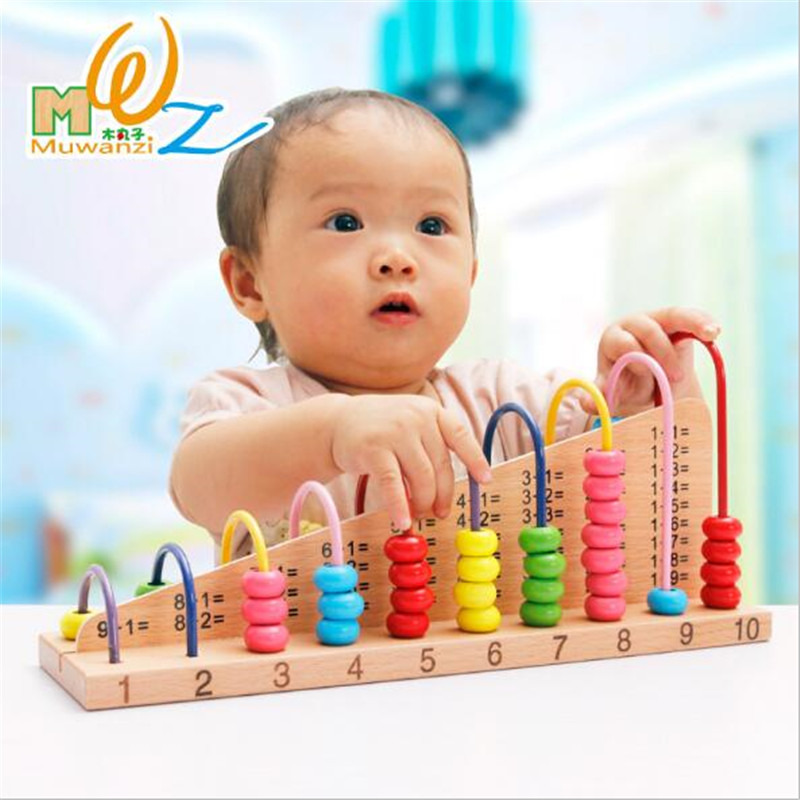 Children Counting Calculation Shelf Blocks Wooden Abacus Montessori Learning Educational ...