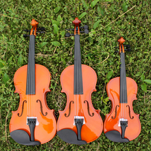 High-grade solid wood manually children adult beginners violin, 4/4 3/4 1/2 1/4 1/8 bright color violin