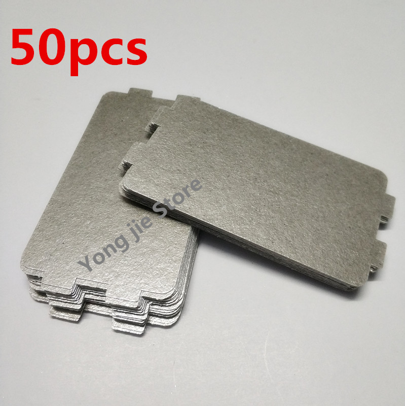 лучшая цена 50pcsThicker Spare parts for microwave ovens mica microwave 10.7*6.4cm mica sheets for Midea magnetron cap microwave oven plates