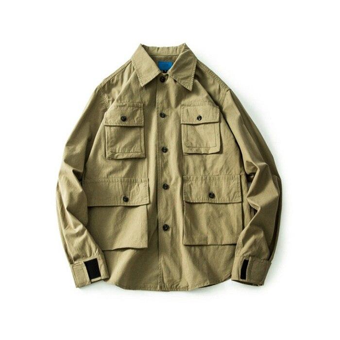Multi-pocket Tooling Jacket Men's Casual Retro American Casual Wear Casual Jacket Tide Men's Clothing