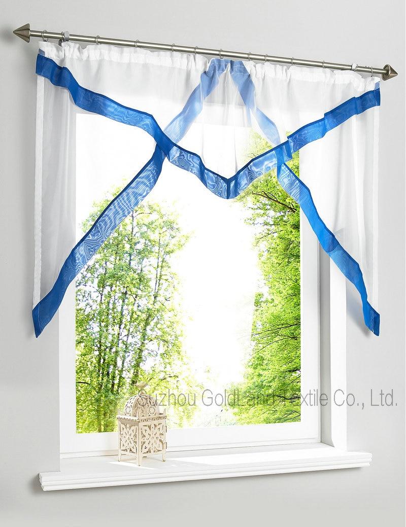 Seil haken Top Stil Sheer Nähte Farben Balkon Küche Fenster Vorhang ...