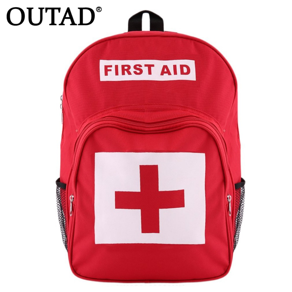 OUTAD Red Cross Backpack First Aid Kit Bag Outdoor Sports Camping Home Medical Emergency Survival bag Wholesale