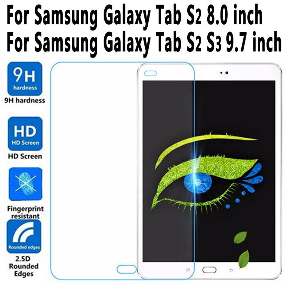 Trempé Verre Pour Samung Galaxy Tab S2 8.0 9.7 T710 T715 T713N T810 T815 T813N T819N pour Tab S3 9.7 T820 T825 Écran Protecteur