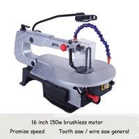 전기 곡선 톱 데스크탑 와이어 톱 DIY 조각 기계 와이어 커팅 머신 목공 도구 영어 매뉴얼 S016