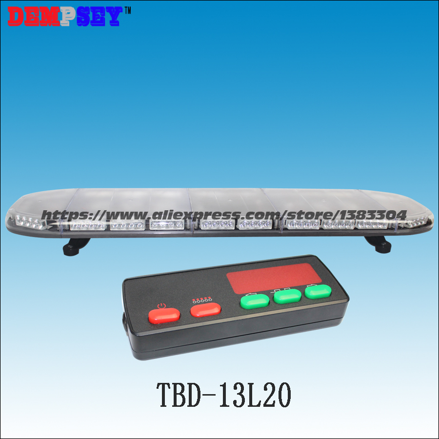 TBD-13L20 LED warning lightbar 49,engineering/emergency/police,DC12V/24V Car Roof Flash Strobe lightbar,with controller-3K