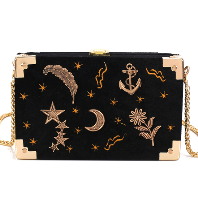 Women Bag Female Handbags Messenger Shoulder Bag Crossbody Nubuck Printing Flower Handbag Black Chain Casual Small Flap Bags