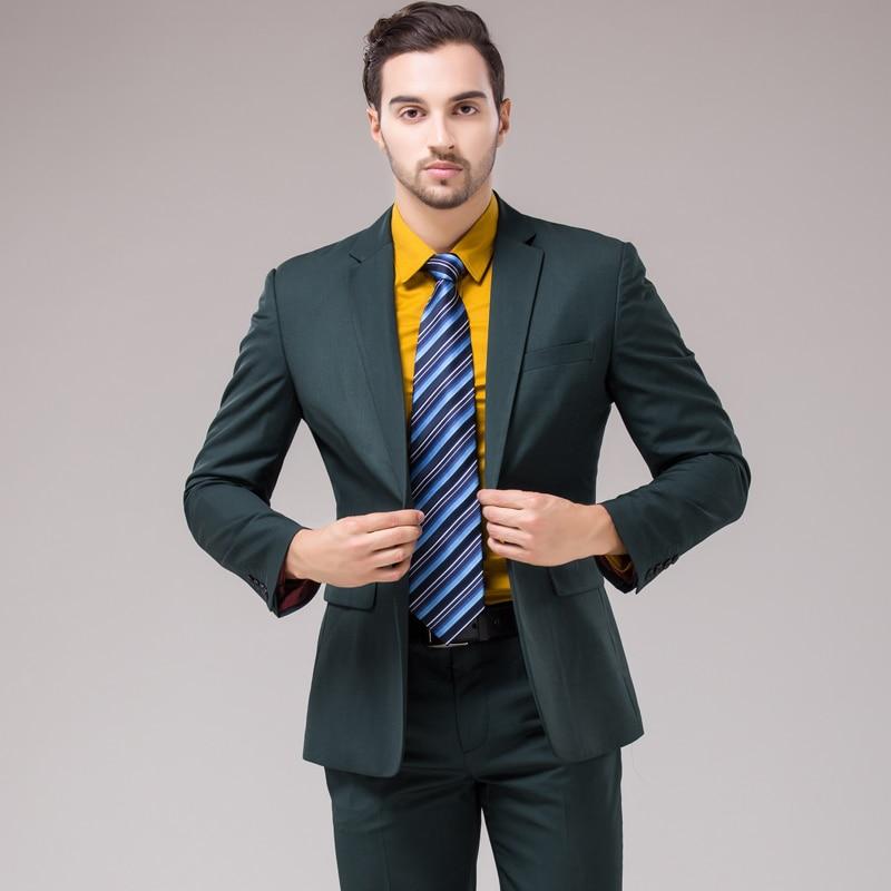 Men's Clothing ... Suits & Blazers ... 32785294239 ... 5 ... OSCN7 12 Color 2pcs Slim Fit Suits Men Notch Lapel Business Wedding Groom Leisure Tuxedo 2019 Latest Coat Pant Designs S-4XL ...