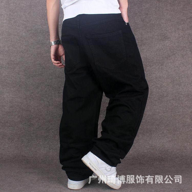 c48a4e8866 American loose jean jogger baggy Black jeans for men Rap Jeans For ...
