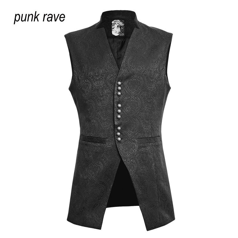 Punk Rave Mens Damask Waistcoat Vest jacket Victorian Steampunk Gothic Vintage S 4XL Y642