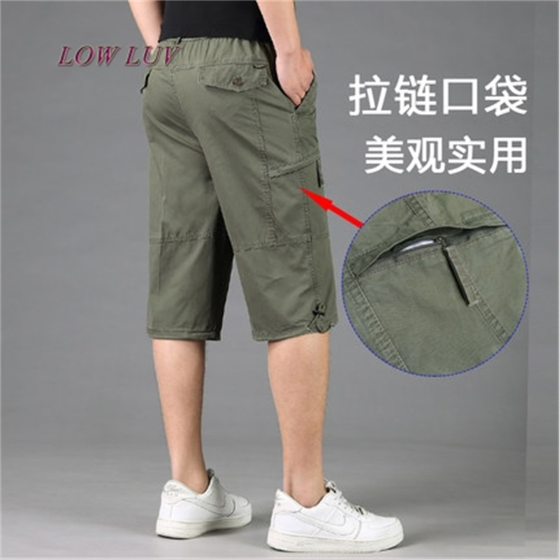 Men's Camouflage Cargo Shorts High Quality 100% Cotton Mens Casual Loose Shorts Men's Army Short Pants
