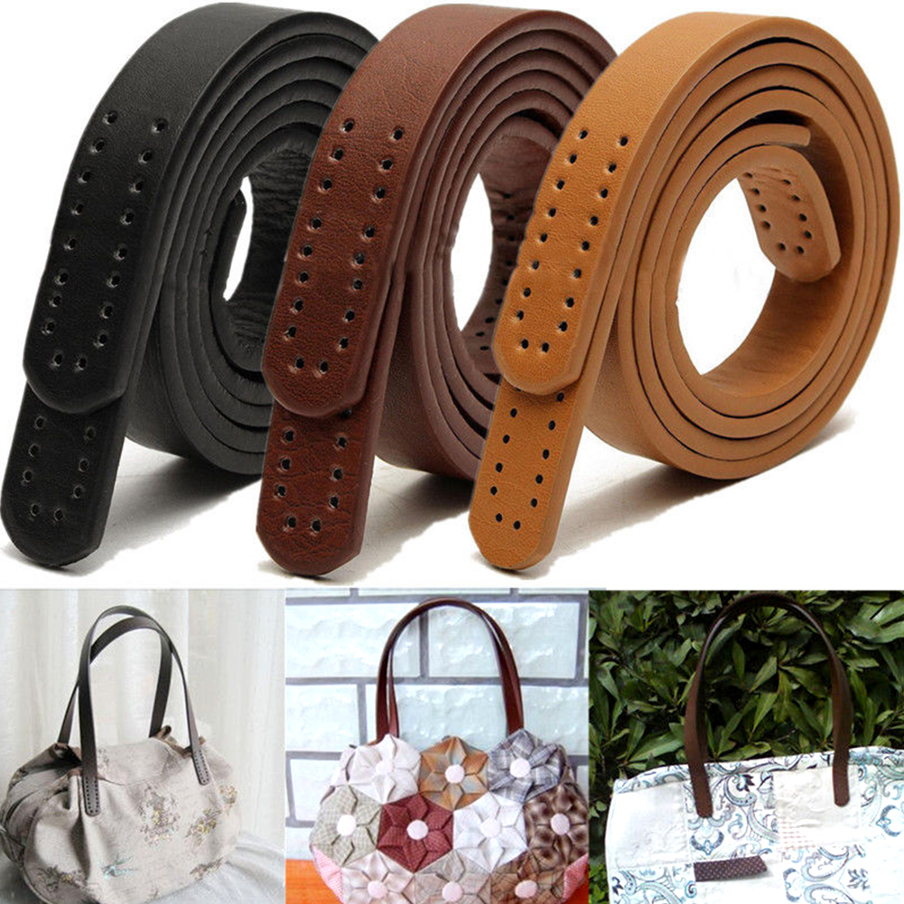 1 Pair DIY Replacement Shoulder Strap Women PU Leather Purse Shoulder Handbag Tote Sewing Strap Handle Bag Accessories 60*1.7cm