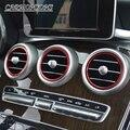 Подходит для Mercedes C GLC Benz Класса W205, 7 шт./лот алюминиевый сплав наклейка/приборная панель воздуха на выходе декоративное кольцо наклейки