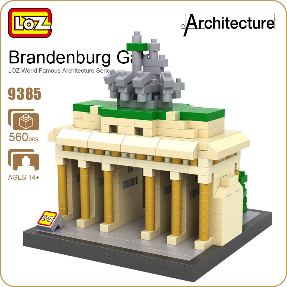 LOZ Architecture Blocks Brandenburg Gate Model Diamond Blocks Buildings Loz Toys for Children Bricks Educational House Kits 9385