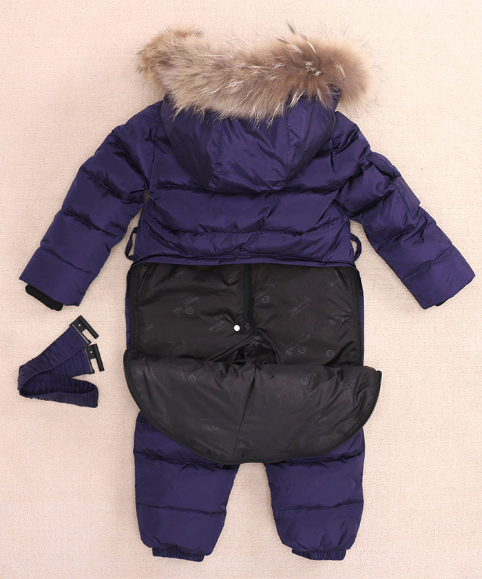 Image 3 - Children Russia Winter  30 Degree Thicken Rompers Baby Boys Warm 