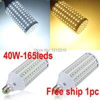 2015 New High Power 30W E27 165 SMD 5050 LEDs 3000LM 360 Degree LED Corn Bulb Light Lamp AC100-230V Warm White or White Lighting