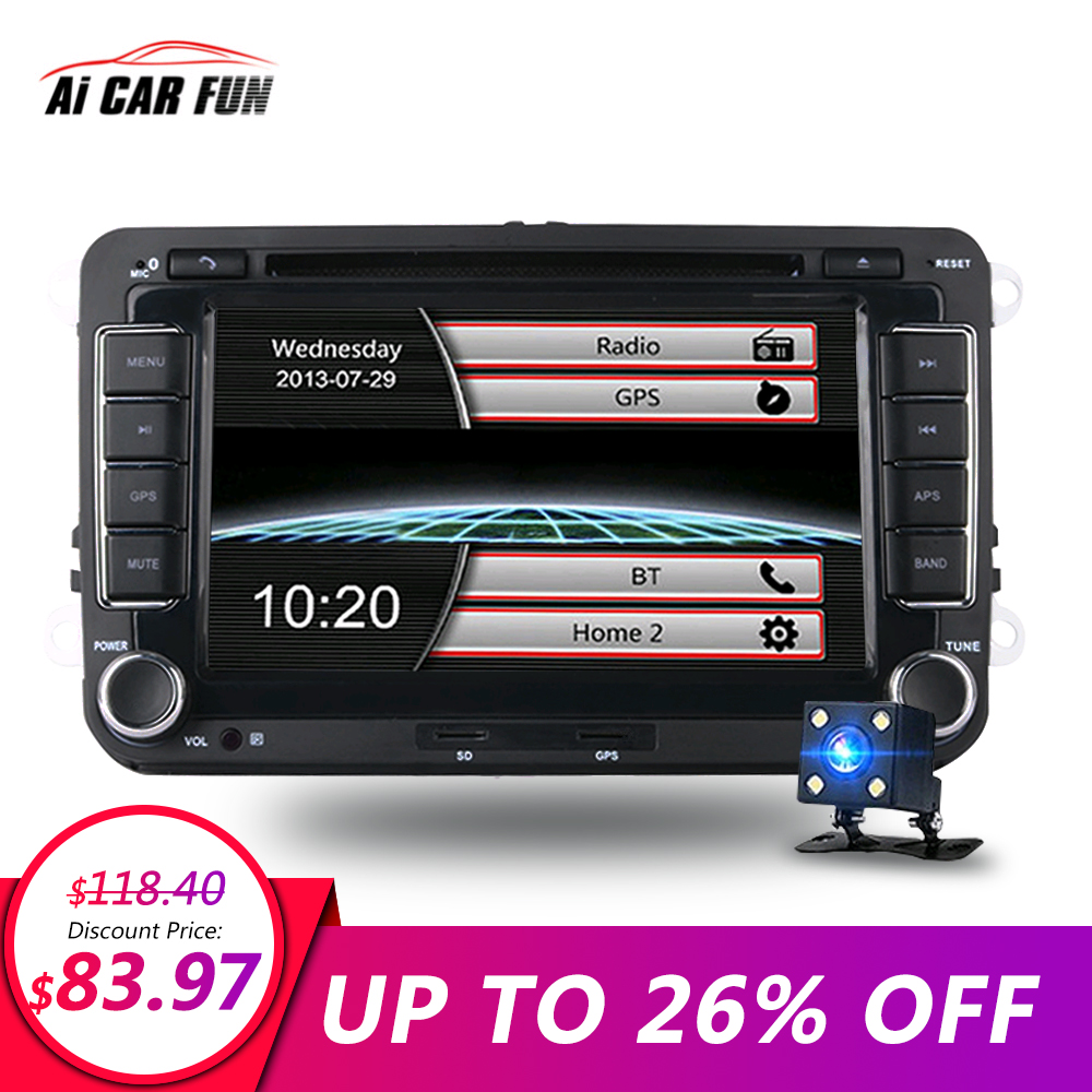 7 inches 2 din car dvd gps navigation radio stereo player. Black Bedroom Furniture Sets. Home Design Ideas