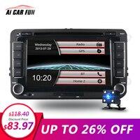 7 Inches 2 Din Car DVD GPS Navigation Radio Stereo Player for Volkswagen VW Touran Passat B7 Sharan Touran Polo Tiguan GPS Navi