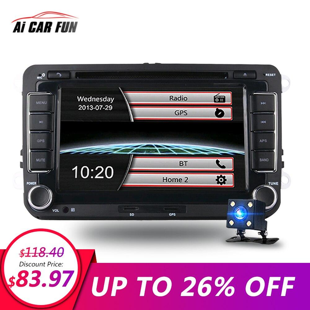 7 pouces 2 Din dvd de voiture radio GPS lecteur stéréo pour Volkswagen VW Touran Passat B7 Sharan Touran Polo Tiguan GPS Navi