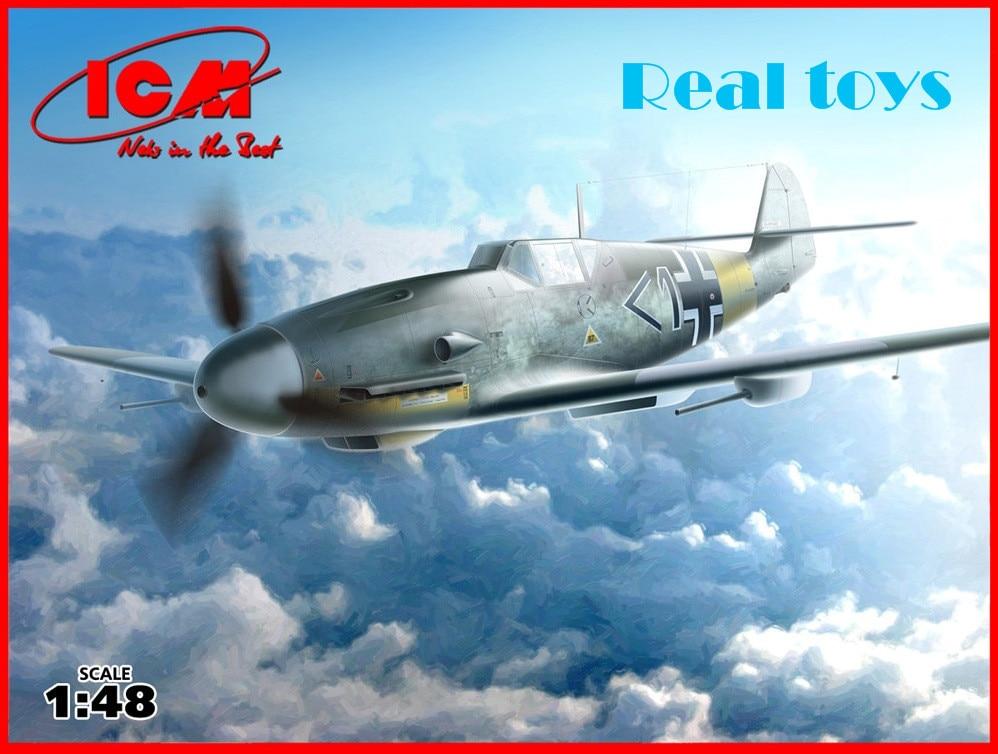 ICM model 48107 1 48 Bf 109F 4 R6 WWII German Fighter plastic model kit
