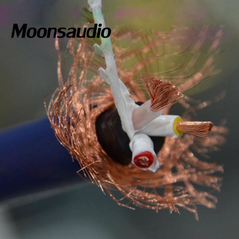 Free shipping one meter Moonsaudio Audio Grade High Performance Supper 5N Copper Multi Conductor Power Cable