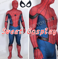 High Quality New Tom Spiderman Costume Civil War Spiderman Costume Spandex with PU leather edge Adult Spider man Cosplay Costume
