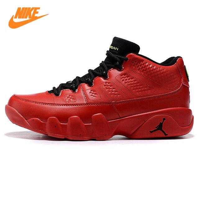 Nike Air Jordan 9 Low Bright Mango AJ9 Men Basketball Shoes Sneakers ,Red  ,Damping