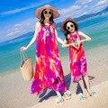 Пляж Семья Набор Шифон Мать Дочь Чешского Платье Мама и Дочь Платья Одежда Семья Соответствия Пляж Clothing