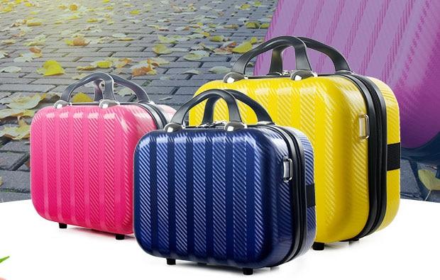 Maquillage de voyage valise diagonale lockbox