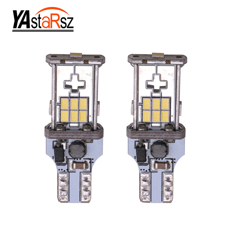 2x T15 W16W LED Canbus Bulb Error Free 10-LED 3020 Extremely Bright 912 921 Car LED Back-up Light Auto Reverse Lamp Bulb 2 x error free super bright white led bulbs for backup reverse light 921 912 t15 w16w for peugeot 408