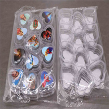 12PCS classic Catholic plastic box heart-shaped rosary necklace box. Rose The picture is random.